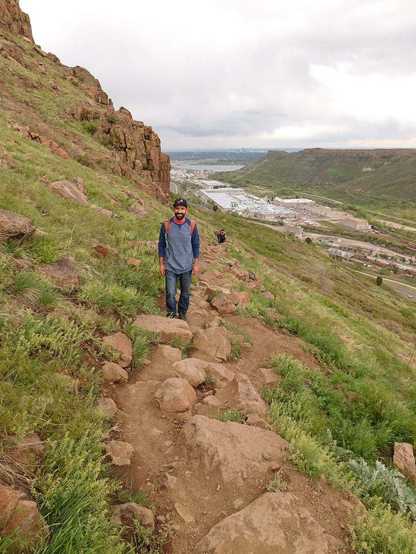 Hiking on North Table Mountain - one of the many Golden hikes