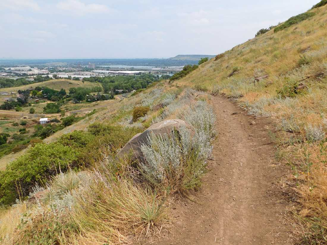 North Table Mountain hiking trail in Golden