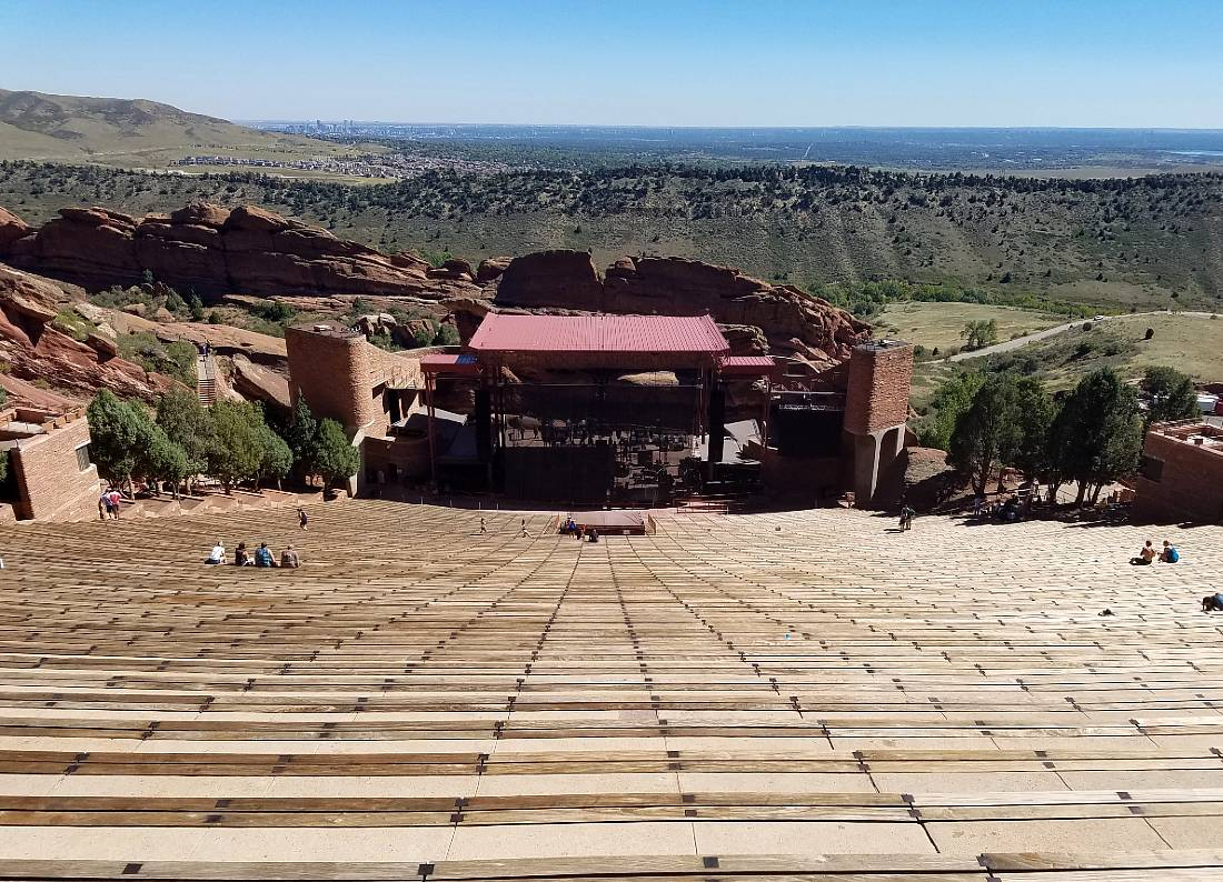Red Rocks Amphitheater close to Morrison - one of the mountain towns near Denver