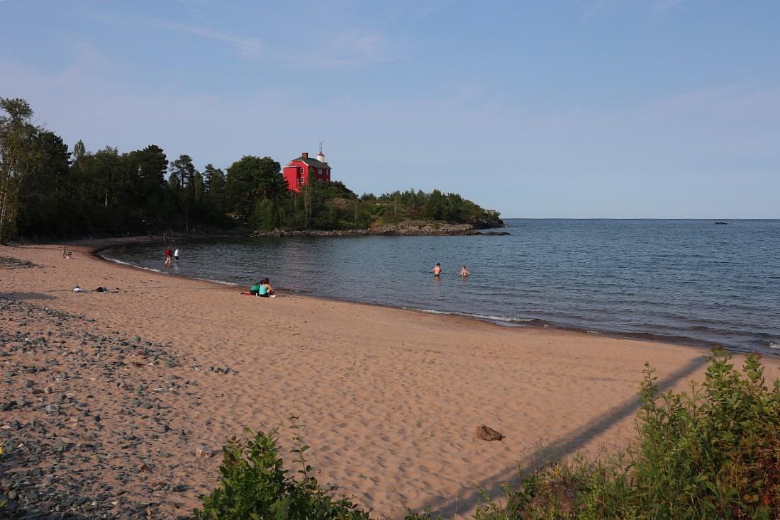 Beach in Marquette MI