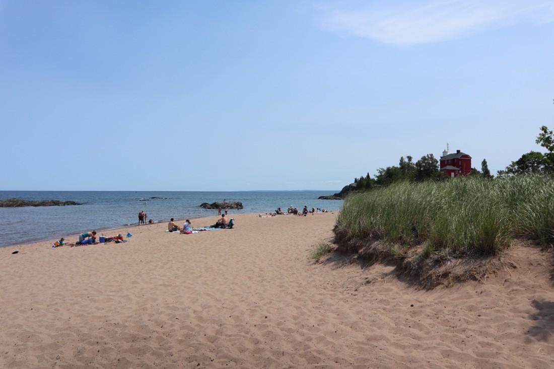 Beach in Marquette, Michigan