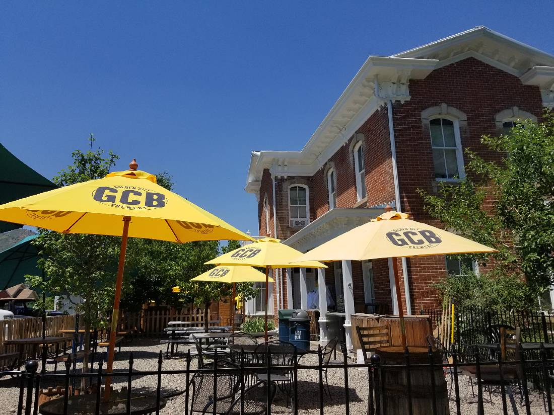 Sample brews at Golden City Brewing for one of the best things to do in Golden