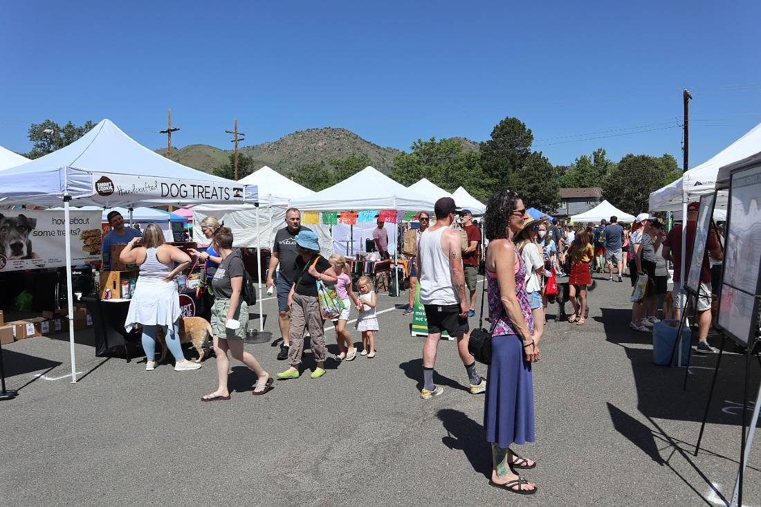 Going to the weekly Farmers Market is one of the top things to do in Golden CO