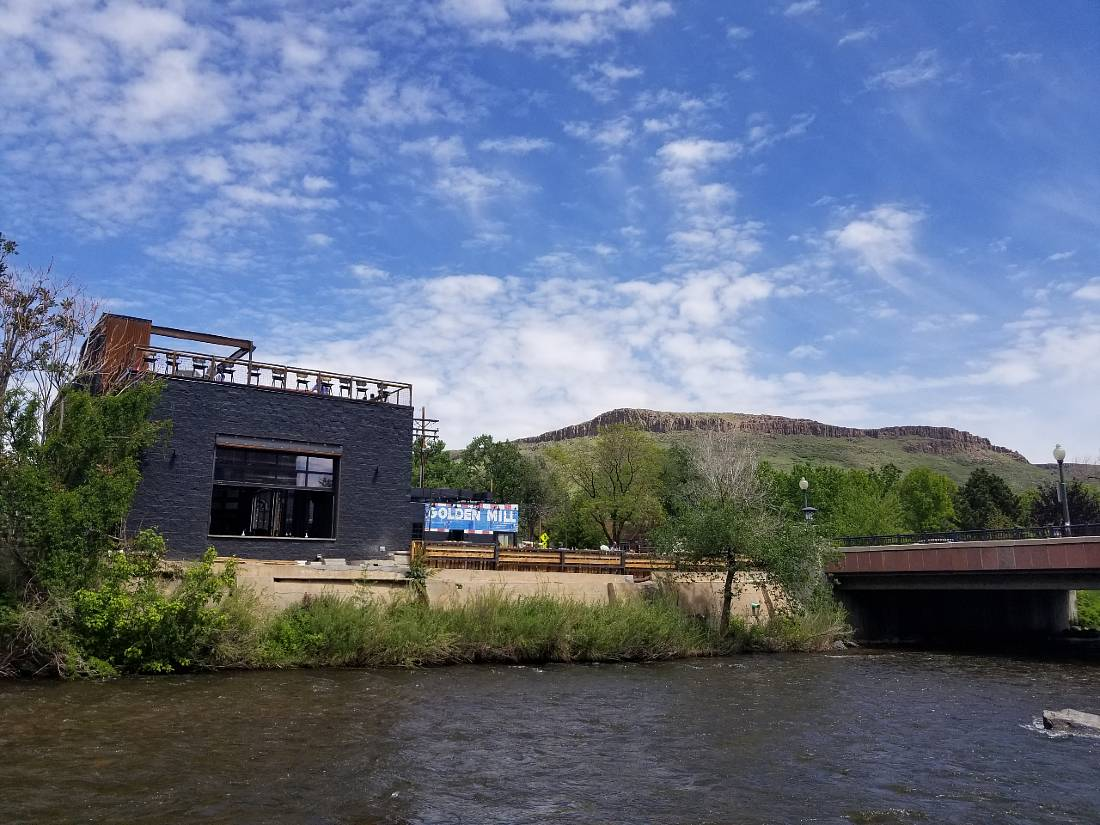 Make sure to eat at Golden Mill - one of the top things to do in Golden